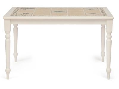 Стол с плиткой (ct3349) Butter White + Рисунок Прованс с Бордюром