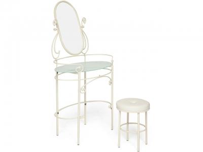 Столик туалетный Albert Античный Белый
