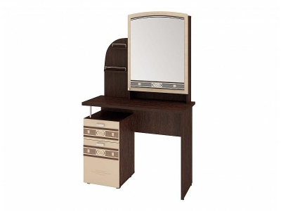 Туалетный стол с зеркалом Орхидея-4.10 Венге - Белёный дуб 950х450х1570