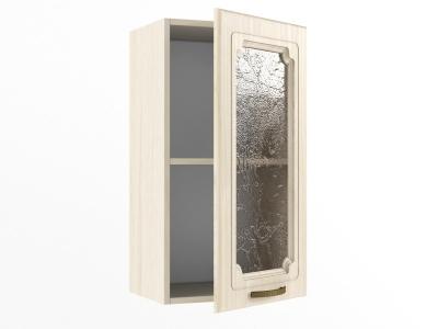 Верхний шкаф В 400 стекло 720х400х300 Грецкий орех