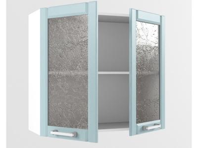 Верхний шкаф В 800 стекло 720х800х300 Прованс Роялвуд голубой
